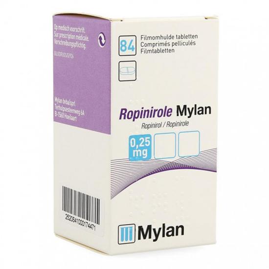 Ropinirol Mylan-dura® 0,25mg 84 Tabl.